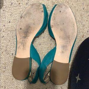 Coach Shoes - Coach sling back sandals teal size 7